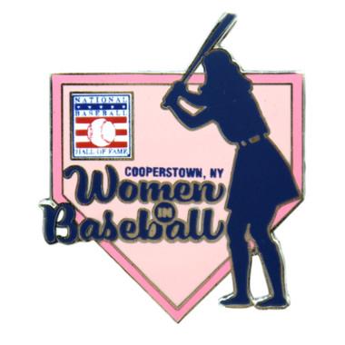 Baseball Hall of Fame Women in Baseball Homeplate Pin