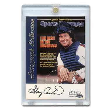 Gary Carter Autographed Card 1999 Fleer Sports Illustrated Greats