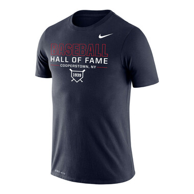 Men's Nike Baseball Hall of Fame Dri-FIT Legend 2.0 1939 Navy Heather T-Shirt