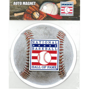 Baseball Hall of Fame Logo 4 Inch Car Magnet