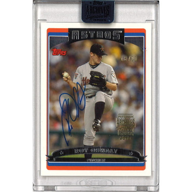 Roy Oswalt Autographed Card 2018 Topps Archives Buyback Lt Ed of 20