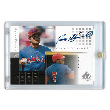 Ivan Rodriguez Autographed Card 2000 Upper Deck SP Authentic Chirography