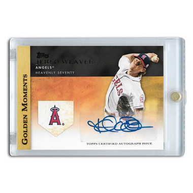 Jered Weaver Autographed Card 2012 Topps Golden Moments # GMA-JW