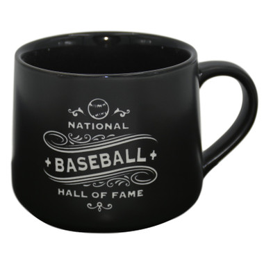 Baseball Hall of Fame Black Reverse Tapered 16 oz Mug