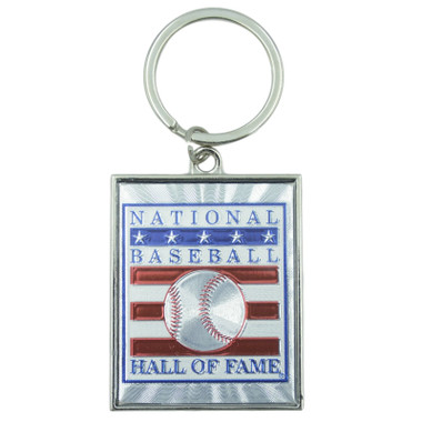 Baseball Hall of Fame Foil Logo Keychain