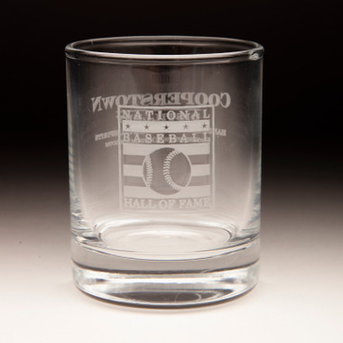 Hall of Fame Cooperstown Distillery 2 ounce Circle Shot Glass