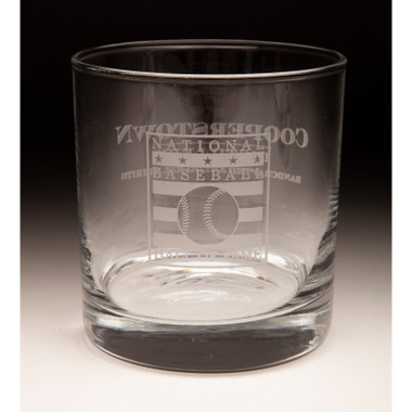 Hall of Fame Cooperstown Distillery 9 ounce Rocks Glass