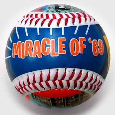 The Miracle Mets Unforgettaballs Limited Commemorative Baseball with Lucite Gift Box