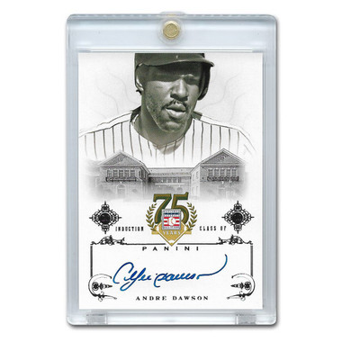 Andre Dawson Autographed Card 2014 Panini Cooperstown HOF 75th Anniversary # 72