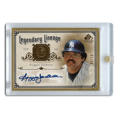 Reggie Jackson Autographed Card 2005 SP Legends Legendary Lineage Ltd Ed of 10