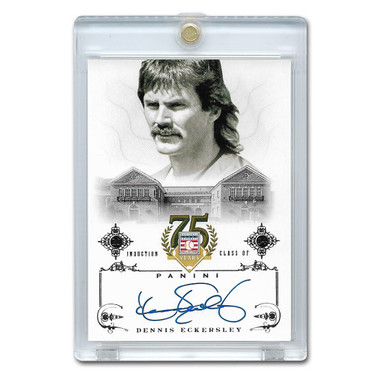 Dennis Eckersley Autographed Card 2014 Panini Cooperstown HOF 75th Anniversary # 16