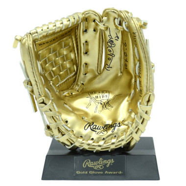 Roberto Alomar Autographed Rawlings Mini Gold Glove Award with 10xGG Inscription (MAB)