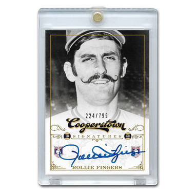 Rollie Fingers Autographed Card 2012 Panini Cooperstown Ltd Ed 799