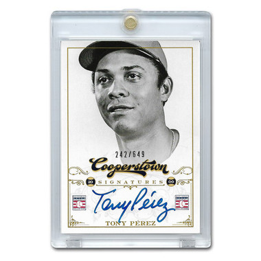 Tony Perez Autographed Card 2012 Panini Cooperstown Ltd Ed 649