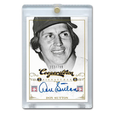 Don Sutton Autographed Card 2012 Panini Cooperstown Ltd Ed 799