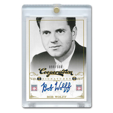 Bob Wolff Autographed Card 2012 Panini Cooperstown Ltd Ed 500