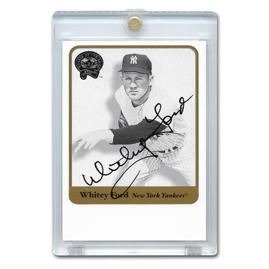 Whitey Ford Autographed Card 2001 Fleer Greats of the Game