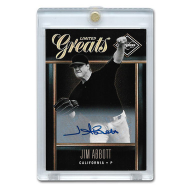 Jim Abbott Autographed Card 2011 Leaf Limited Greats Lt Ed of 499