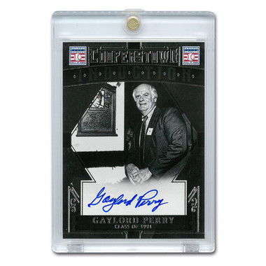 Gaylord Perry Autographed Card 2015 Panini Cooperstown # 18