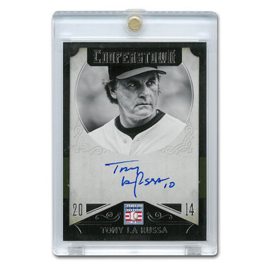 Tony La Russa Autographed Card 2015 Panini Cooperstown # 46