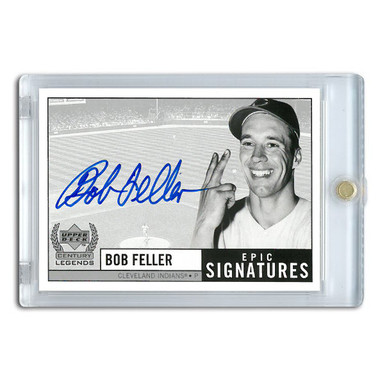 Bob Feller Autographed Card 1999 Upper Deck Century Legends