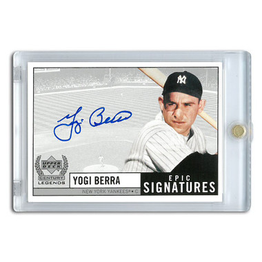 Yogi Berra Autographed Card 1999 Upper Deck Century Legends