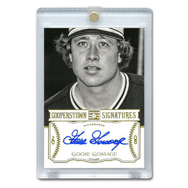 Goose Gossage Autographed Card 2013 Panini Cooperstown Signatures Ltd Ed 430