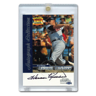 Harmon Killebrew Autographed Card 1999 Fleer Sports Illustrated Greats