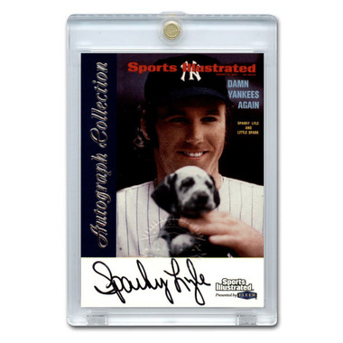 Sparky Lyle Autographed Card 1999 Fleer Sports Illustrated Greats