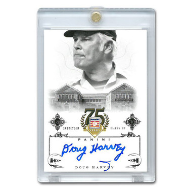 Doug Harvey Autographed Card 2014 Panini Cooperstown HOF 75th Anniversary # 80