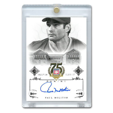 Paul Molitor Autographed Card 2014 Panini Cooperstown HOF 75th Anniversary # 89