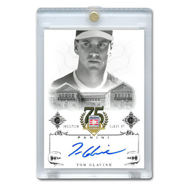 Tom Glavine Autographed Card 2014 Panini Cooperstown HOF 75th Anniversary # 61