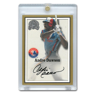 Andre Dawson Autographed Card 2000 Fleer Greats of the Game