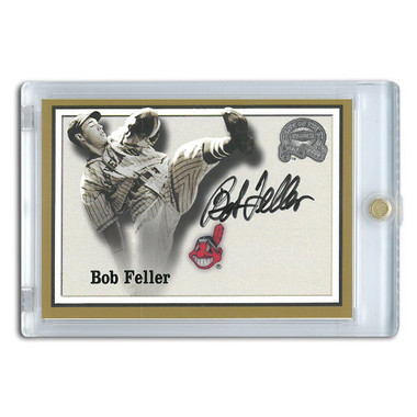 Bob Feller Autographed Card 2000 Fleer Greats of the Game