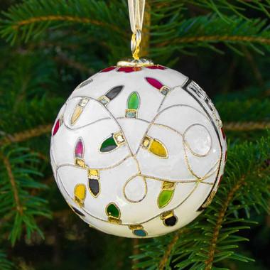 Baseball Hall of Fame Kitty Keller Holiday Lights Ornament