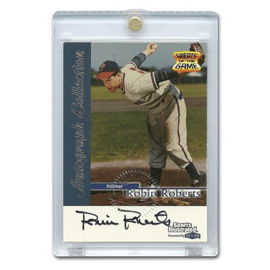 Robin Roberts Autographed Card 1999 Fleer Sports Illustrated Greats
