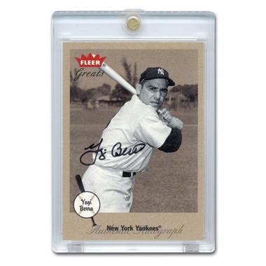 Yogi Berra Autographed Card 2002 Fleer Greats of the Game