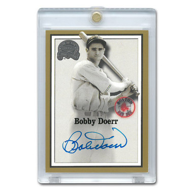 Bobby Doerr Autographed Card 2000 Fleer Greats of the Game