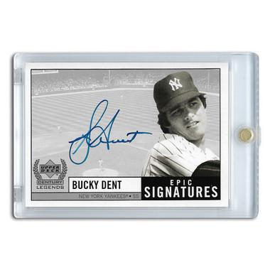 Bucky Dent Autographed Card 1999 Upper Deck Century Legends