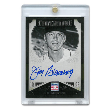 Jim Bunning Autographed Card 2015 Panini Cooperstown # 21
