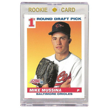 Mike Mussina Baltimore Orioles 1991 Score # 383 Rookie Card