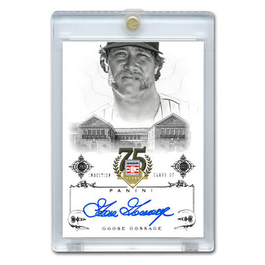 Goose Gossage Autographed Card 2014 Panini Cooperstown HOF 75th Anniversary # 83