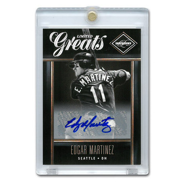 Edgar Martinez Autographed Card 2011 Leaf Limited Greats Lt Ed of 250