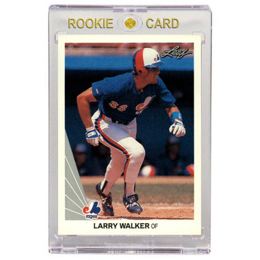 Larry Walker Montreal Expos 1990 Leaf # 325 Rookie Card