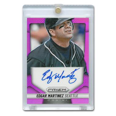 Edgar Martinez Autographed Card 2014 Panini Prizm Purple Lt Ed of 99