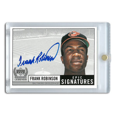 Frank Robinson Autographed Card 1999 Upper Deck Century Legends