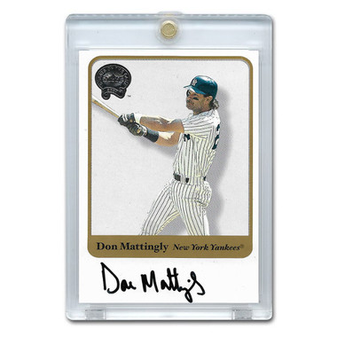 Don Mattingly Autographed Card 2001 Fleer Greats of the Game