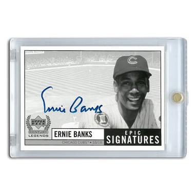 Ernie Banks Autographed Card 1999 Upper Deck Century Legends