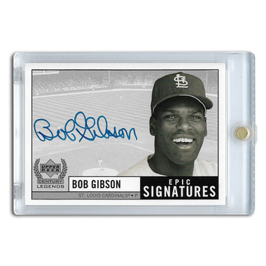 Bob Gibson Autographed Card 1999 Upper Deck Century Legends