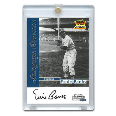 Ernie Banks Autographed Card 1999 Fleer Sports Illustrated Greats